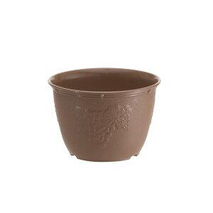 【ポイント10倍】(まとめ) 植木鉢/プランター 【6号】 チョコブラウン プラスチック製 ガーデニング用品 園芸 『ビオラデコ』 【120個セット】
