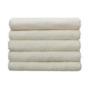 【ポイント10倍】(まとめ)伊澤タオル 再生PET糸使用・環境に優しいタオル フェイスタオル ホワイト 1パック(5枚) 【×5セット】