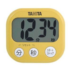 【ポイント10倍】(まとめ)タニタ でか見えタイマーマンゴー イエロー TD-384MY 1個【×20セット】