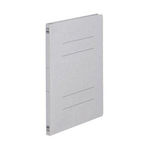 【ポイント10倍】(まとめ)TANOSEE フラットファイル(ノンステープルタイプ)A4タテ 150枚収容 背幅18mm グレー 1セット(100冊:10冊×10パック)【×5セット】