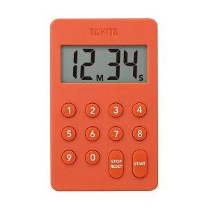 【ポイント10倍】(まとめ)タニタ デジタルタイマー100分計オレンジ TD-415-OR 1個【×5セット】