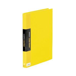 【ポイント10倍】(まとめ) キングジム クリアファイル カラーベースW A4タテ 40ポケット 背幅24mm 黄 132CW 1冊 【×10セット】