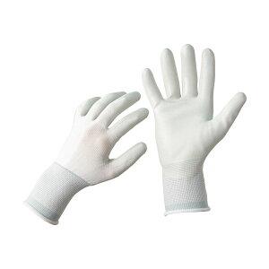 【ポイント10倍】TANOSEE ニトリル 背抜き手袋 L ホワイト/グレー 1セット(25双:5双×5パック)