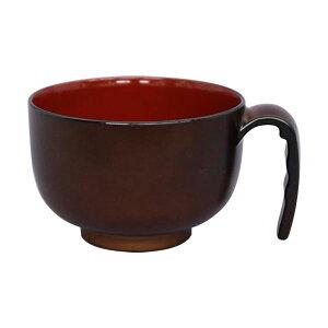【ポイント10倍】(まとめ)台和 取っ手付き汁椀ミニ ブラウン HS-N32 1個【×10セット】
