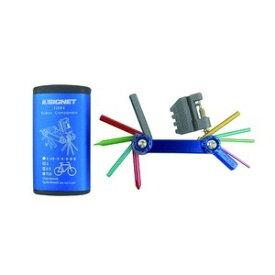【ポイント10倍】SIGNET シグネット バイク用マルチツールセット フォールディングツール カラーケース付 ブルー 22084