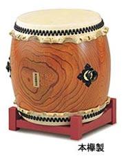 【ポイント10倍&送料無料】SUZUKI 長胴太鼓 本欅製1尺9寸(57cm)鈴木楽器 和太鼓 ケヤキ製 スズキ)