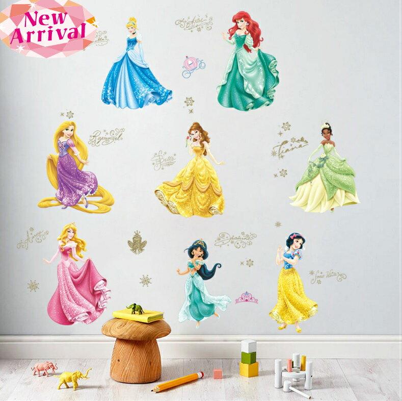 ディズニープリンセス Disney Princess RMKウォールステッカー ラプンツェル アリエル 白雪姫 ベル  シンデレラ アリエル