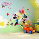 【ミッキーミニーパーティー】小さいサイズ ウォールステッカー はがせる 壁紙 Disney ディズニー ミッキー ミニー…