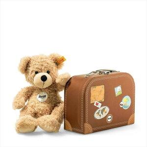 Steiff テディベア フィン スーツケース 28cm 入園 入学祝い 並行輸入品