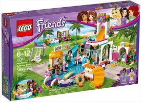 送料無料 レゴ LEGO フレンズ ドキドキウォーターパーク 41313 LEGO Friends Heartlake Summer Pool 41313 Building Kit ブロック 創作 入園 入学祝い 対象年齢6歳以上 並行輸入品 フィギュア レゴセット 楽天最安値に挑戦中