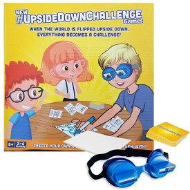 The UpsideDownChallenge ゲーム 子供 家族向け 逆さまのゴーグルで楽しいチャレンジ パーティー カードゲーム おもちゃこども 室内 対象年齢8歳以上