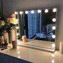 【25日限定ポイント3倍】FENCHILIN D-3 女優ミラー 化粧鏡 58cmx46cm 15個LEDライト ハリウッドミラー ドレッサー 化…