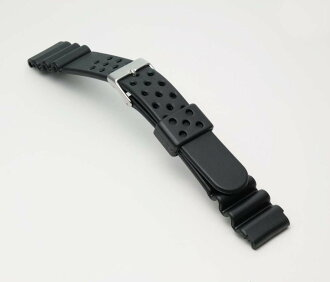 Watchband belt watch band BG110A ダイバータイプ urethane (thick type) mens watch belt / black 15 mm 16 mm 18 mm