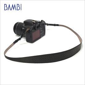 BAMBI バンビ カメラストラップ カメラ用 ネックストラップ GUIDI革 編み込み 【NSG-Z25A】 【CP+ 2018 出品商品】 【送料無料】