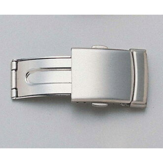 Watch watch band D buckle leather belt for push belt three folding buckle (Silver) 16 mm 18 mm