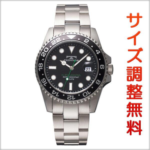 テクノス メンズ 腕時計 TECHNOS TSM412SB ダイバーズ ブラック 【お取り寄せ商品】