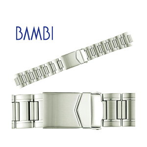 時計 ベルト 時計ベルト 腕時計ベルト 時計バンド 時計 バンド 腕時計バンド バンビ メタル 金属 オスカー メンズ シルバー OSB4476S 20mm 21mm 22mm