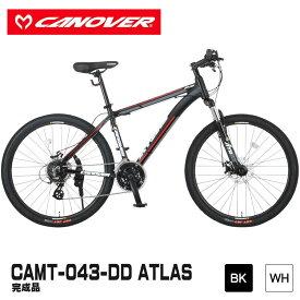 マウンテンバイク CANOVER カノーバー CAMT-043-DD ATLAS アトラス 完成品 ブラック ホワイト アルミフレーム [送料無料]