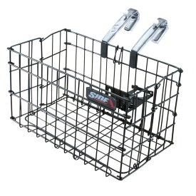 自転車 かご SIDE-A 折りたたみカゴ FBO-001 フロントバスケット 前カゴ 折り畳み ブラック