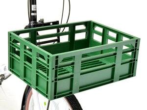 自転車 カゴ OGK オージーケー技研 コンテナバスケット SPB-001 レトログリーン 前 後ろ 送料無料(北海道・沖縄・その他離島は除く)