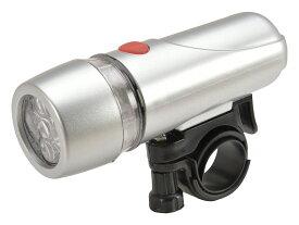 キャッシュレス5%還元 ライト 自転車 フロントライト SIDE-A 高輝度5連LEDライト FL-502 シルバー