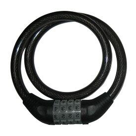 自転車 カギ ロック J&C ワイヤーロック ダイアルロック JC-001W 650mm ブラック 送料無料(北海道・沖縄・その他離島は除く)