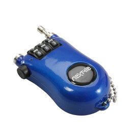 キャッシュレス5%還元 自転車 鍵 ワイヤーロック ワイヤー錠 ブルー カギ付き NEXTYLE NT-K sk ダイヤル式ワイヤーロック