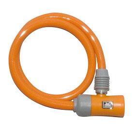 キャッシュレス5%還元 自転車 カギ ロック J&C シリンダ式ワイヤー錠 オレンジ カギ付き JC-023W 60cm 600mm