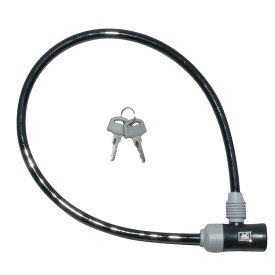 キャッシュレス5%還元 自転車 カギ ロック J&C シリンダ式ワイヤー錠 ブラック カギ付き JC-023W 60cm 600mm