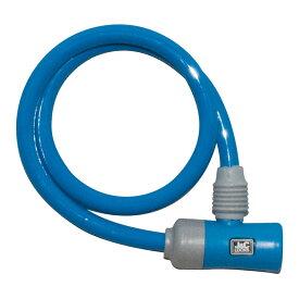 キャッシュレス5%還元 自転車 カギ ロック J&C シリンダ式ワイヤー錠 ブルー カギ付き JC-023W 60cm 600mm