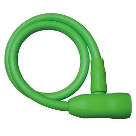 キャッシュレス5%還元 自転車 鍵 ワイヤーロック ワイヤー錠 グリーン カギ付き JC-031W