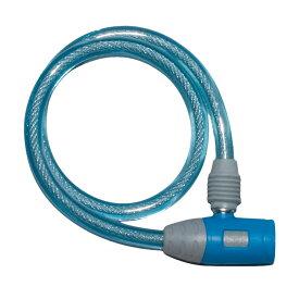 キャッシュレス5%還元 自転車 鍵 ワイヤーロック J&C ディンプルキー付き ブルー コンパクトディンプル JC-020W