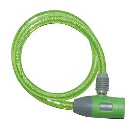 キャッシュレス5%還元 自転車 鍵 ワイヤーロック J&C ディンプルキー付き グリーン コンパクトディンプル JC-020W