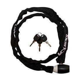 キャッシュレス5%還元 自転車 カギ ロック チェーンロック コンパクトチェーン ブラック JC-040C