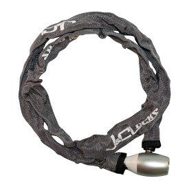 キャッシュレス5%還元 自転車 カギ ロック チェーンロック コンパクトチェーン グレー JC-040C