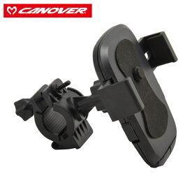 キャッシュレス5%還元 自転車 スマホホルダー CANOVER カノーバー スマートフォンホルダー ブラック SH-01