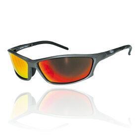 ☆【SUOMY EYEWEAR】スオーミー アイウェアサングラスSU-012 MODELフレームカラー:メタルグレーレンズカラー:レッドミラー可視光線透過率15% 【バイク用品】