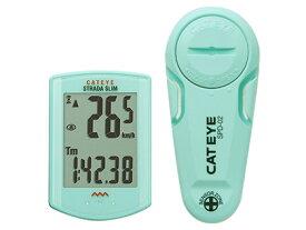 【CATEYE】(キャットアイ)CC-RD310W ストラーダスリム ワイヤレスコンピュータ チェレステカラー【サイクルコンピューター】【サイコン】(自転車) 4990173027330 RD-310W