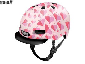 【NUTCASE】(ナットケース)リトル ナッティー MIPS【ラブバグ】子供用ヘルメット バイザー付(GEN4)(自転車)