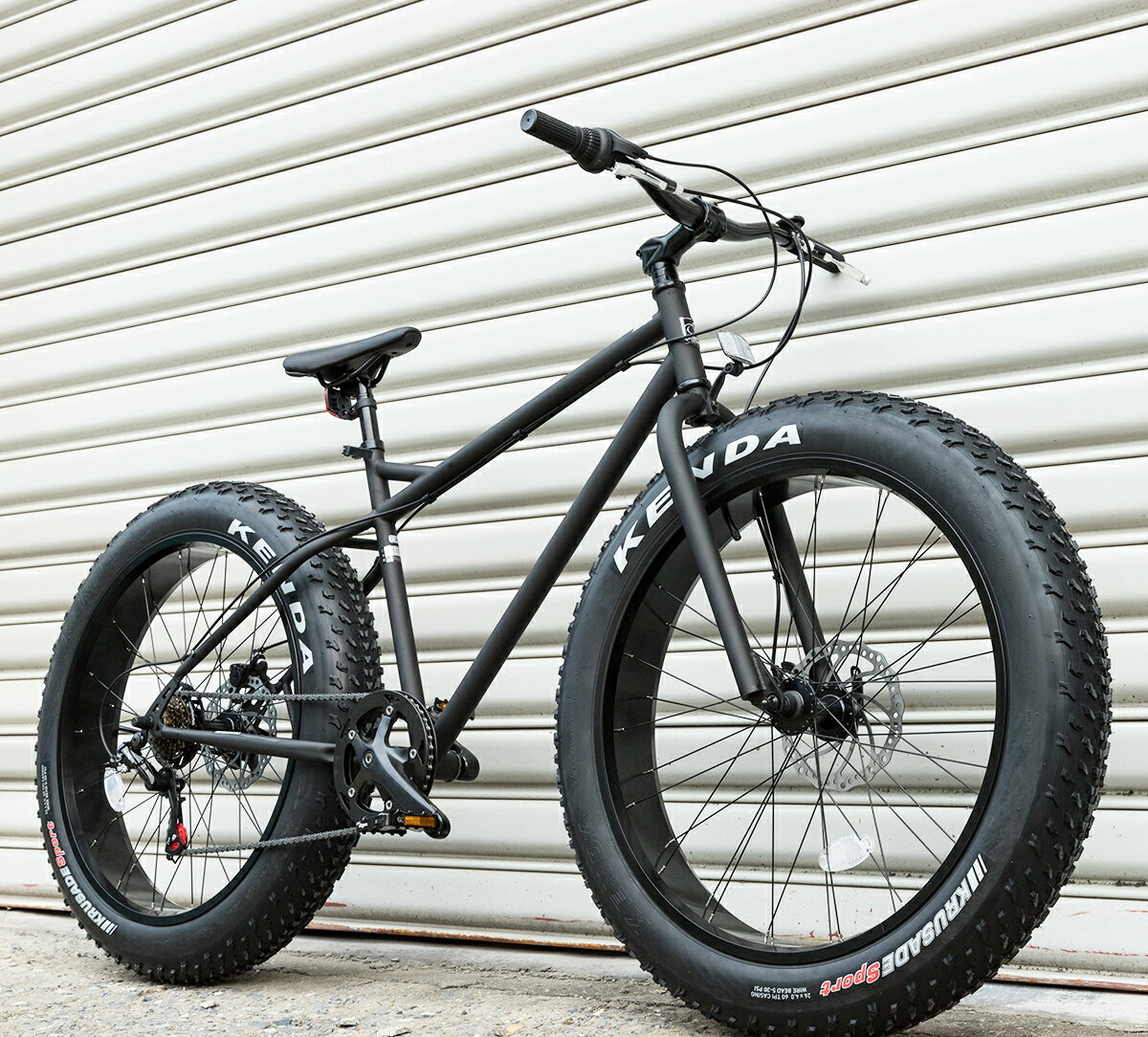 ファットバイク FATBIKE 送料無料 あす楽 26インチ 6段変速 自転車 マットブラック