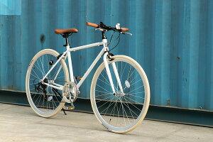 クロスバイクペルーシュ(perruches)X-734【6段変速】自転車【送料無料】【700C】【シマノ変速機】【Vブレーキ】【KMC】【CROSSBIKE】