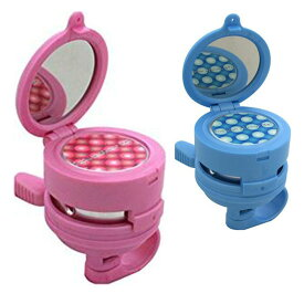 送料無料 扇工業 ファッションミラーベル RIN400 ブルー ピンク 子ども 自転車 かわいい 女の子 男の子 ミラー 鏡
