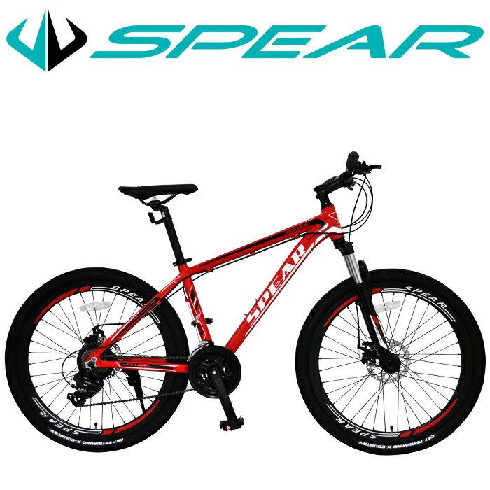 最大15%OFFクーポン配布中 マウンテンバイク 26インチ 自転車 シマノ製 21段変速 SPEAR(スペア) ディレーラー Tourney(ターニー) 1年保証 適用身長160cm以上 男性 女性 1年保証