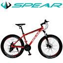 お買い物マラソン対象商品 マウンテンバイク 26インチ 自転車 シマノ製 21段変速 SPEAR(スペア) SPM−2621 ディレー…