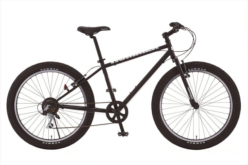 マウンテンバイク ハマー HUMMER 自転車 ブラック 黒色 26インチ マウンテンバイク 外装6段変速ギア MTB 自転車 ハマー マウンテンバイク TANK3.0 おしゃれ