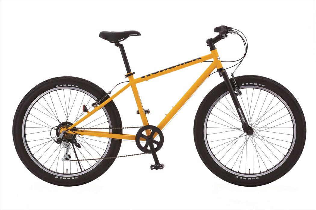 配送先一都三県一部地域限定送料無料 マウンテンバイク ハマー HUMMER 自転車 イエロー 黄色 26インチ マウンテンバイク 外装6段変速ギア MTB 自転車 ハマー マウンテンバイク TANK3.0 おしゃれ