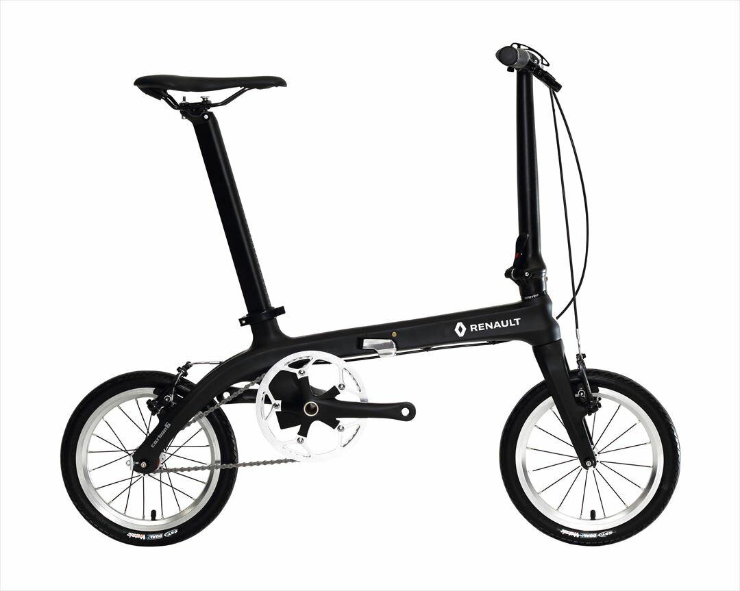 配送先関東限定 2018年モデル 送料無料 自転車 ルノー(RENAULT) カーボンフレーム 自転車 折りたたみ自転車 16インチ 軽量 折りたたみ自転車 ルノー RENAULT Carbon 6  (カーボン6 C140) おしゃれ