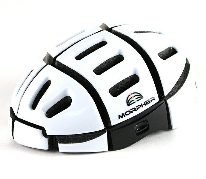 Veloline MORPHER 折りたたみヘルメット2 自転車 専用 EN規格 欧州統一規格 クリア ヘルメット ホワイト おしゃれ