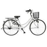 【送料無料自転車シンプルフレームで大人気ママチャリ】サントラストママチャリ軽快車(ブラック/黒色)自転車SUNTRUST-裾(SUSO)すそ-【ギアなし自転車ダブルループフレームママチャリ26インチ鍵付き】
