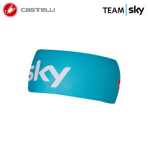 [オープン記念!]【即納】CASTELLI 7032 TEAM SKY VIVA THERMO HEADBAND カステリ チームスカイ ビバ サーモ ヘッドバンド/サイクリングウェア サイクル 自転車
